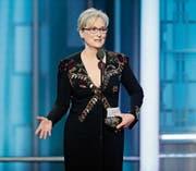 Meryl Streep wurde 2017 an der Golden-Globes-Verleihung mit einem Preis für ihr Lebenswerk geehrt. (Bild: Paul Drinkwater/AP)