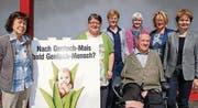 Marlies Näf-Hofmann, Marlise Bornhauser, Verena Herzog, Doris Günter, Christian Lohr, Edith Wohlfender-Oertig und Brigitte Häberli. (Bild: Kurt Peter)