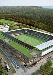 Der Solarpreis 2017 ging an das Schaffhauser Stadion mit 8707 m2 Fotovoltaikfläche. (Bild: PD)
