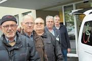 Bringen die Tixi-Sache mit Vollgas voran: Rolf Schneider, Heini Berger, Mario Viecelli, Peter Brugger und Hermann Sutter. (Bild: Reinhold Meier)