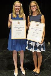 Julia Steinhauser und Selina Zanolari belegten den dritten und zweiten Rang. (Bild: Julia Kaufmann)