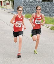 Starkes Brüderpaar: Dennis Sutter (364, Sieger) und Robin Sutter (Zweiter) nahmen der Konkurrenz in der Kategorie Schüler A viel Zeit ab.