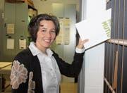 Hat dank ihrer Behördentätigkeit bereits ein eigenes Ablagefach. Nun will Barbara Jaeger Schulpräsidentin werden. (Bild: Simon Dudle)