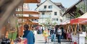Besucher schlendern durch den Tuenbachtaler Frühlingsmarkt 2014. (Bild: Olivia Hug)