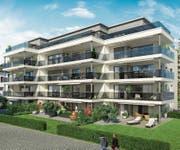 Visualisierung der Wohnüberbauung «Ankerplatz» in Seenähe. (Bild: PD)