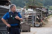 Im August wurde der Hof des mutmasslichen Tierquälers Ulrich K. polizeilich geräumt. (Bild: ENNIO LEANZA (KEYSTONE))