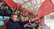 1629 Zuschauer sorgten bei der letztjährigen Cup-Partie gegen den EHC Kloten für einen Stadionrekord. (Bild: Reto Martin (27. September 2016))