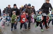 Die «Pfüdis» beim Rennen über 600 Meter. (Bild: Trudi Krieg)