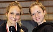 Alina Granwehr (links) und Nadine Keller bescheren dem Thurgauer Verband einen optimalen Start ins Tennisjahr. (Bild: Marie-Theres Brühwiler)