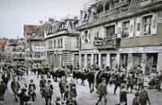 Das Verkaufslokal Wisiak im Jahr 1910 im Haus St. Gallerstrasse 1, dem heutigen Geschäftshaus «zur Palme». Hier führte Wisiak auch das Restaurant Palme. (Bild: Fausel-Wieber)