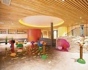 Im öffentlichen Teil der Jufa-Hotels wird ein Wellness- und Wassererlebnisbereich mit Spielbereich für die ganze Familie angeboten. Hier der Kinder-Wasser-Spielbereich im Jufa-Hotel Annaberg. (Bild: Jufa Hotels)