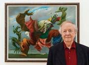 Hat die Ausstellung mitkonzipiert: Kunstexperte Werner Spies vor Max Ernsts Bild «Der Hausengel». (Bild: ky/Georgios Kefalas)
