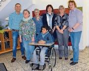 Freudige Gesichter im Lerchenhof anlässlich der Übergabe der Spende durch die Vorstandschaft der Frauengruppe Müllheim. (Bild: pd)