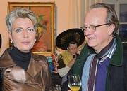 FDP-Ständerätin Karin Keller-Sutter mit Jürg Grämiger, Präsident katholischer Kirchenverwaltungsrat. (Bilder: Philipp Haag)