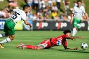 Die Ostschweizer gerieten gegen den FC Baden nie ernsthaft ins Straucheln. (Bild: WALTER BIERI (KEYSTONE))