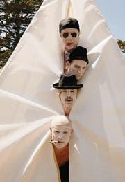 Die Red Hot Chili Peppers mit Schlagzeuger Chad Smith (oben). (Bild: pd)