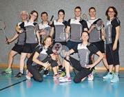 Das Interclub-Team des Badminton-Clubs Aadorf freut sich über den Aufstieg in die 3. Liga. (Bild: PD)