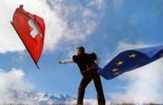 Das Verhältnis zwischen der Schweiz und der EU ist seit Jahren schwierig. (Bild: MARTIN RUETSCHI (KEYSTONE))