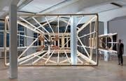 Heiko Blankensteins illuminierte Holzskulptur. (Bild: Richard Tisserand)