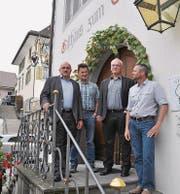 Die SVP Thurgau stellt sich gegen den revidierten Richtplan: Ruedi Zbinden, René Gubler, Stephan Tobler und Paul Koch. (Bild: Silvan Meile)