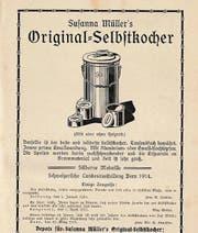 Für den Selbstkocher von Susanna Müller wurde in Zeitschriften geworben. (Bilder: pd)