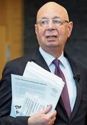 Der Deutsche Klaus Schwab (79) hat das WEF 1971 gegründet. (Bild: Laurent Gilliéron/Keystone (Colony, 10. Januar 2017))
