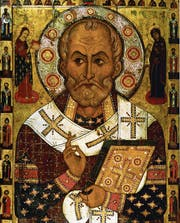 So ungefähr soll der heilige Nikolaus von Myra ausgesehen haben. (Bild: Heritage Images/Getty)