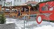 Die Glühweinhütte stand erstmals auf dem Obstmarkt in Herisau. (Bild: Karin Erni)