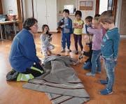 Beim Kurs Nothilfe mit Globi lernten die Kinder spielerisch alles Wichtige bezüglich Erster Hilfe und vielem mehr.