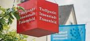 Rote Würfel markieren die Innenstadt als Ort der Begegnung. (Bild: Reto Martin)