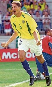 Defensivspieler Edmilson Moraes wurde 2002 mit Brasilien Fussball-Weltmeister. (Bild: Keystone)