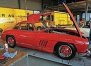 Knallrot. Der Mercedes mit den Flügeltüren. (Bild: Reto Martin (Reto Martin))