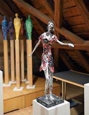 Skulpturen von Vaclav Elias bei «Papier & was». (Bild: Dieter Langhart)