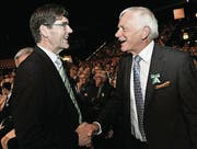 Erster offizieller Auftritt: Der neue Grossratspräsident Gallus Müller und sein Vorgänger Max Arnold. (Bild: Donato Caspari (Donato Caspari))