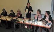Der Vorstand des Frauechreis Speicher-Trogen-Wald mit Brigitte Wild, Hedi Beglinger, Beatrice Zanettin, Präsidentin Andrea Brunner, Sabine Weilenmann und Verena Süess (von links). (Bild: Martin Hüsler)