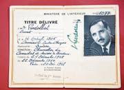 Der Diplomatenausweis von Ernst Prodolliet. (Bild: Reto Martin)