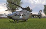 Militärhelikopter auf der Romanshorner Bunkerwiese. (Bild: Silvan Mumenthaler)