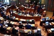 Der St.Galler Kantonsrat (hier in der Septembersession) wird sich im April und Juni mit dem neuen Publikationsgesetz befassen. (Bild: Regina Kühne/Archiv)