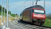 Auf der gesamten Strecke von Hard bis Berg liegt bereits das zweite Gleis. Ab August fahren die Züge auf diesen neuen Schienen. (Bild: Mario Testa)