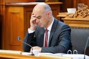 Bundesrat Alain Berset. (Bild: PETER KLAUNZER (KEYSTONE))