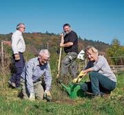 Heckenpflanzung in Dingenhart (Bild: Sandra Schweizer/PD)