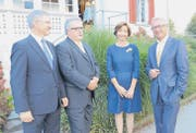 Die Referentin und die Referenten: Siegfried Winkelbeiner, Roger Hochreutener, Ursi Dommer und Martin Klöti. (Bild: Hanspeter Thurnherr)