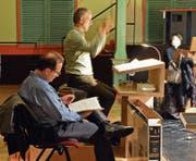 Als Vizedirigent ist Marcel Blanchard (vorne) der Springer. Er dirigiert immer dann, wenn Kurt Koller verhindert ist. (Bild: PD)