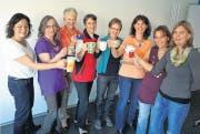 Sie organisieren das Frauenfrühstück: Katja Brunnschweiler, Barbara Wellauer, Heidi Kreienbühl, Annemarie Fässler, Marlise Grob, Agi Scheiwiler, Cornelia Zwick und Irene Friedrich. (Bild: Claudia Gerrits)