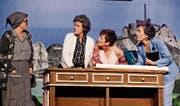 Die Hauptdarstellerinnen: Viola Seydel (Hanni), Barbara Kesseli (Martha), Gisela Stern Konrad (Lisi) und Lisa Mattle (Frieda). (Bild: Donato Caspari)