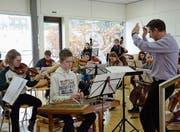 Das Jugendorchester Appenzell Ausserrhoden und Innerrhoden übt für die bevorstehenden Konzerte im März. (Bild: Lisa Wickart)