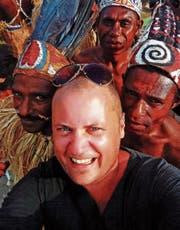 David Aeneas Giger auf einem Festival in Papua, Indonesien. (Bild: PD)