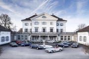 """Das Schloss Eugensberg mit der Oldtimersammlung, die am 21. Mai am Rande der """"Spa Classics"""" auf der Rennbahn """"Circuit de Spa-Francorchamps"""" versteigert wird. (Bild: PD)"""