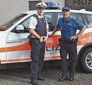 Martin Mayer und Max Nef, Regionenchef Hinterland. (Bild: PD)