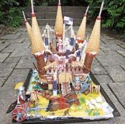 Die «Burg» hielt den hungrigen Mäulern nicht lange stand. (Bild: PD)